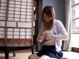 Big Boobed Lactating Mother Mio Sakuragi Swooped By Her Son For Milk
