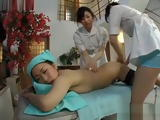 Japanese Teen is Rubbed Fingered and Kissed by Masseuseurs