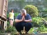 Japanese Girl Knows How To Help Sad Old Dad To Get Rid Off All Debts