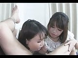 Two girls sucking and ass eating