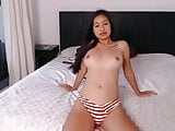 Busty japanese girl naked on cam