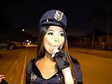 Asian hottie goes trick or treating