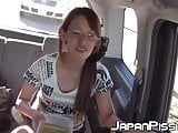 Car ride turns into piss fest with three Japanese friends