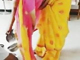 Malathi aunty navel show