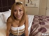 Asian MILF BJ and Facial