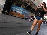 Turkish Asscheek in Too Mini Shorts on the Street