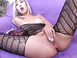 DreamGirl068 Asia In stockings loves pussy play with dildo