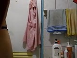 48yo C cup tits Taiwan mom Mei-Li wash her sexy body