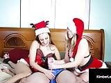 Santas Sluts Kimber Lee & Ashlynn Taylor Give Bound Handjob